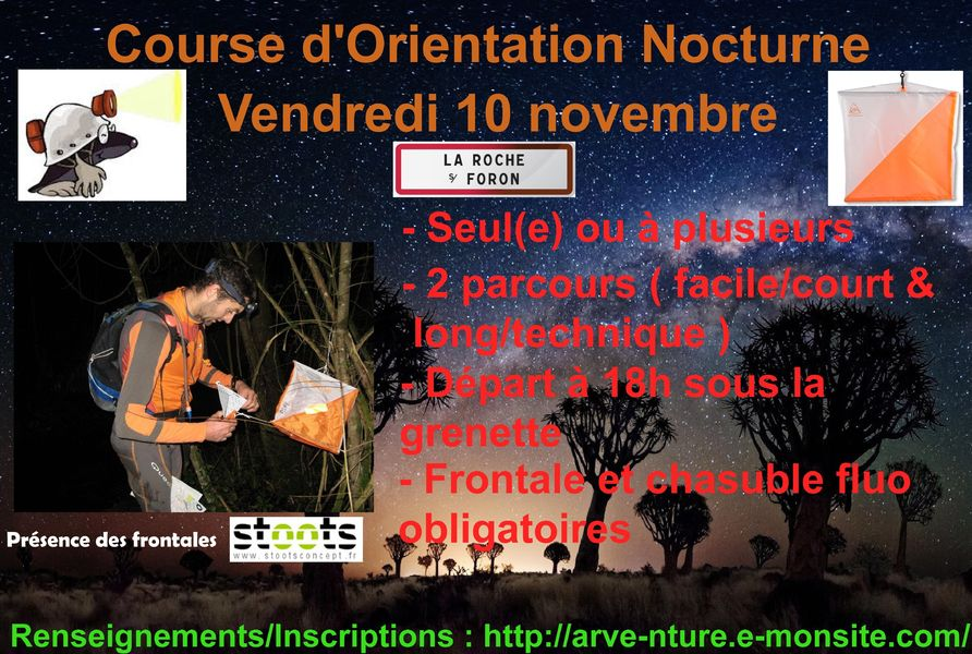 Course d'orientation nocturne